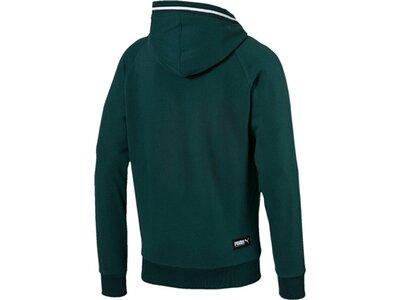 PUMA Herren Sweatjacke Athletics Hooded Jacket TR Grün