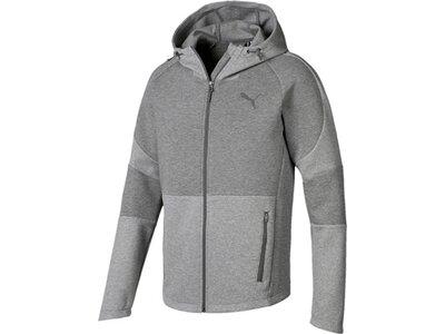 PUMA Herren Hoodie Evostripe Move Hooded Jacket Grau