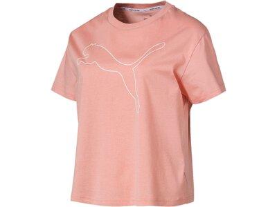 PUMA Damen T-Shirt Evostripe Tee Pink
