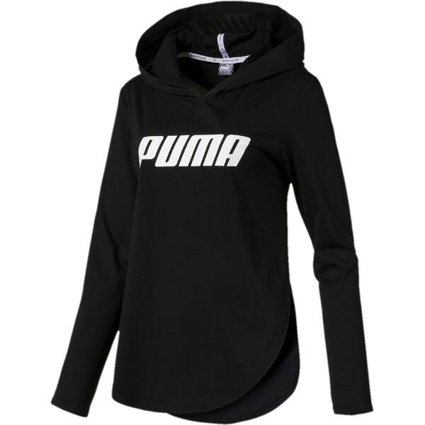 PUMA Damen T-Shirt Modern Sports Light Cover up Schwarz