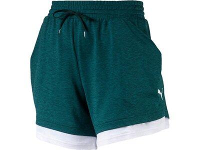 PUMA Damen Shorts Soft Sports Drapey Shorts Grün