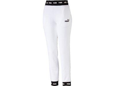 PUMA Damen Trainingshose Amplified Sweat Pants TR CL Weiß