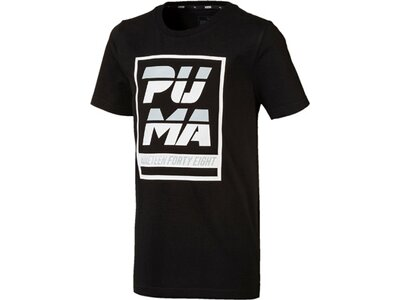 PUMA Kinder T-Shirt Alpha Graphic Tee B Schwarz