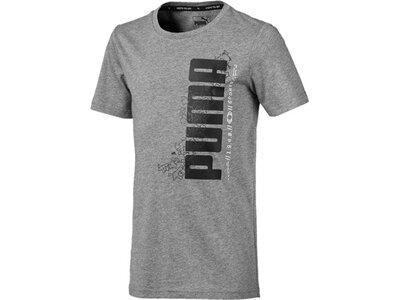 PUMA Kinder T-Shirt Active Sports Basic Tee B Grau