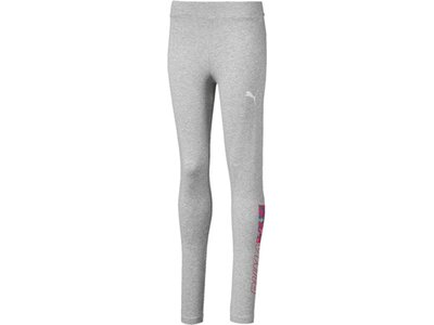 PUMA Kinder Tight Alpha Leggings G Silber