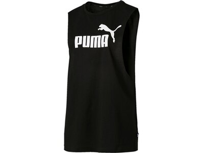 PUMA Damen T-Shirt ESS+ Cut Off Tank Schwarz