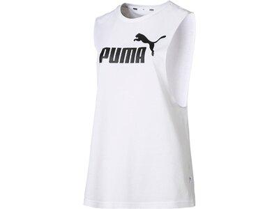 PUMA Damen T-Shirt ESS+ Cut Off Tank Weiß