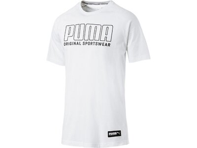 PUMA Herren T-Shirt Athletics Graphic Tee Weiß