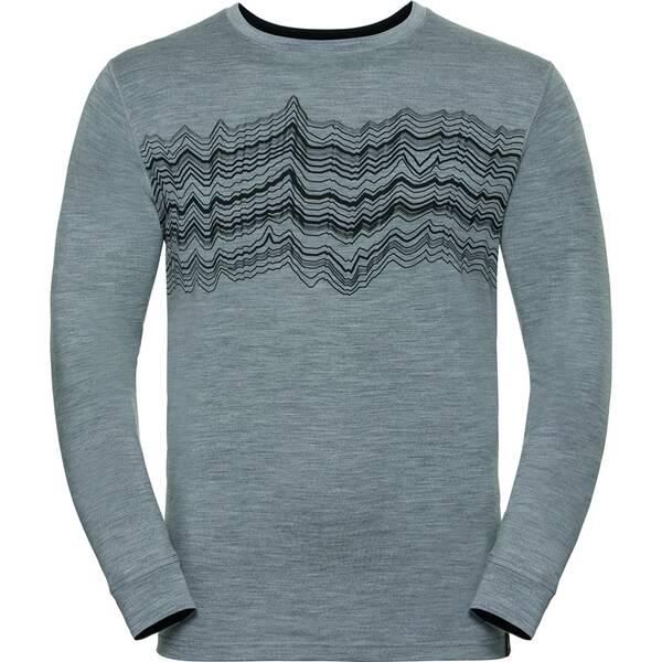 ODLO Herren Funktionsunterhemd / Funktionsshirt Shirt l/s Crew Neck 100% Natural Langarm | Sportbekleidung > Sportshirts > Funktionsshirts | ODLO