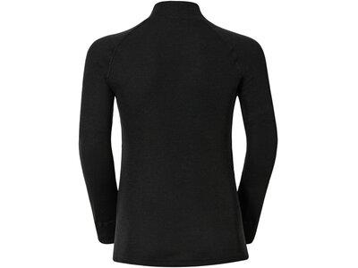 ODLO Kinder Unterhemd Shirt l/s turtle neck WARM KID Schwarz