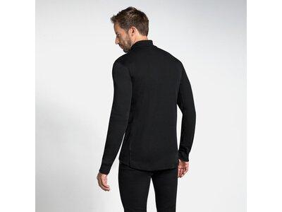 ODLO Herren Unterhemd Shirt l/s turtle neck 1/2 zip Schwarz
