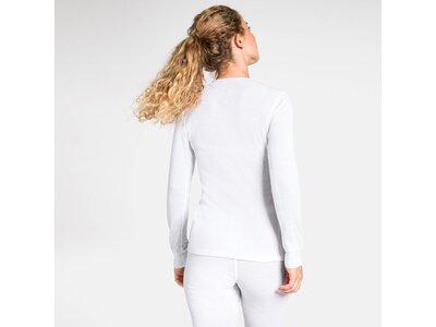 ODLO Damen Unterwäscheoberteil Shirt Crew Neck Warm Weiß