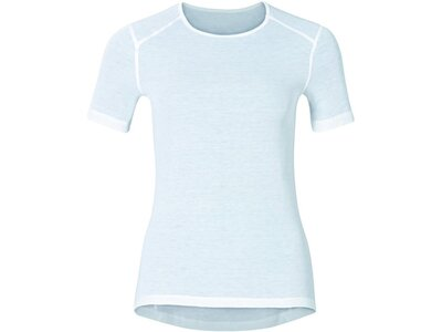 ODLO Damen Funktionsunterhemd / Skiunterhemd Shirt s/s Crew Neck Warm First Layer Kurzarm Weiß