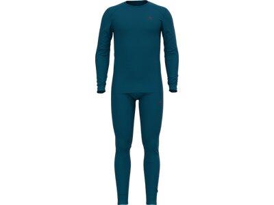 ODLO Herren Funktionswäsche-Set Active Warm Blau