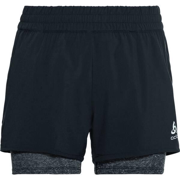 Hosen - ODLO Damen 2 in 1 Shorts MILLENNIUM PRO › Schwarz  - Onlineshop Intersport