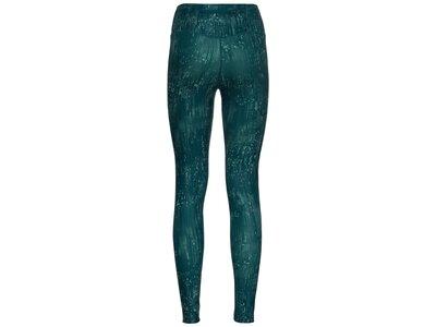 ODLO Damen Tights ZEROWEIGHT PRINT REFLEC Blau
