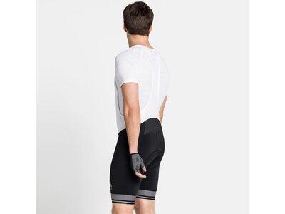 ODLO Herren kurze Radhose mit Trägern ZEROWEIGHT Weiß