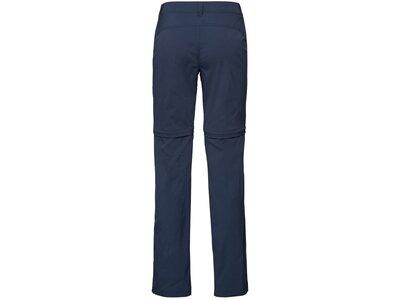 ODLO Damen Zip-Off Hose zip-off WEDGEMOUNT Blau