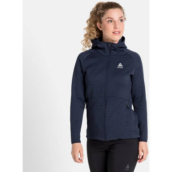 ODLO Damen Kapuzensweat Hoody midlayer full zip HAVEN