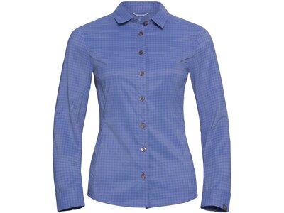 ODLO Damen Bluse KUMANO CHECK Blau