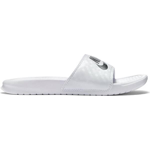 NIKE Damen Badeschuhe Benassi | Schuhe > Badeschuhe | Weiß - Silber | Nike