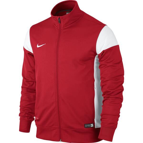 Artikel klicken und genauer betrachten! - Die Nike Academy 14 Sideline Knit Jacke bietet Dri-FIT-Material für hervorragende Feuchtigkeitsregulierung und eignet sich damit ideal für den Einsatz auf dem Spielfeld oder beim Training.   im Online Shop kaufen