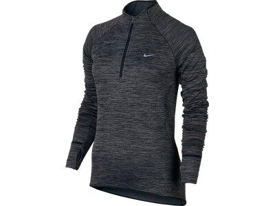 NIKE Damen Laufshirt Sphere Half-Zip Grau