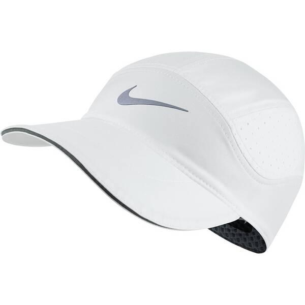 NIKE Herren Cap AeroBill Running | Accessoires > Caps | Weiß - Grau | NIKE
