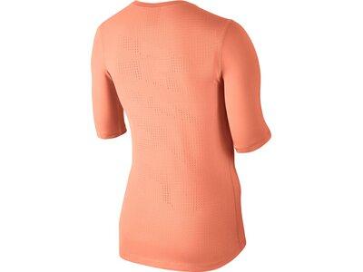 NIKE Damen Trainingsshirt Pro Hypercool Top Halbarm Pink
