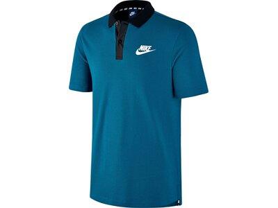 NIKE Herren Poloshirt Advance 15 Kurzarm Blau