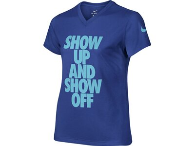 NIKE Kinder T-Shirt DRY SS SHOW UP Blau