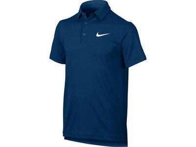 NIKE Kinder Poloshirt DRY Blau