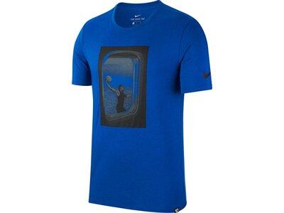 NIKE Herren T-Shirt DRY TEE FREQ FLYER Blau