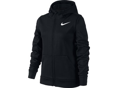 NIKE Girls Sweatshirtjacke Therma Training Schwarz