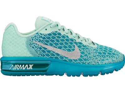 NIKE Kinder Sneaker Max Sequent 2 Silber