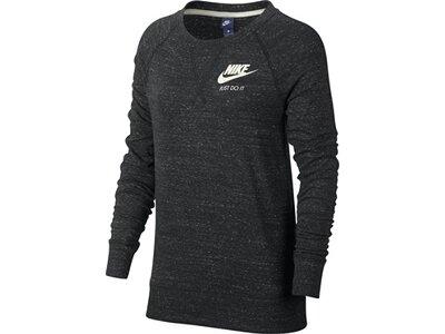 """NIKE Damen Shirt """"Gym Vintage"""" Langarm Schwarz"""