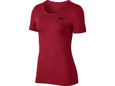"NIKE Damen Fitnessshirt ""Pro Top"" Kurzarm Rot"