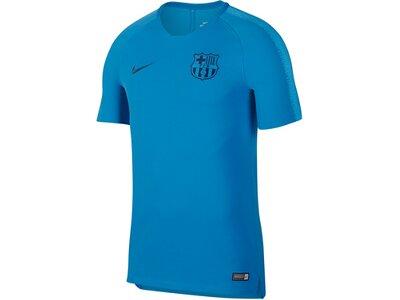 "NIKE Herren Fußballshirt ""Breathe FC Barcelona Squad"" Kurzarm Blau"