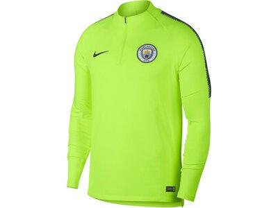 "NIKE Herren Fußballshirt ""Manchester City Dri-FIT Squad Drill"" Langarm Grün"