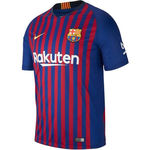 NIKE Herren Fußballtrikot Breathe FC Barcelona Stadium Home Kurzarm
