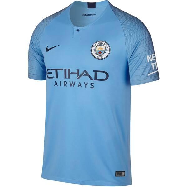 NIKE Herren Fußballtrikot Breathe Manchester City FC Home Stadium Kurzarm