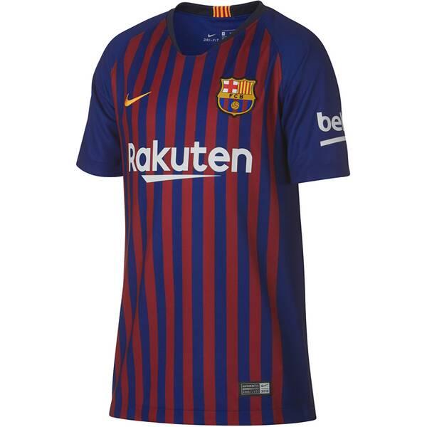 NIKE Kinder Fußballtrikot Breathe FC Barcelona Stadium Home Kurzarm