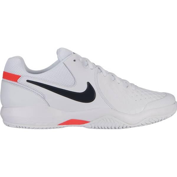 NIKE Herren Tennisschuhe Hartplatz NikeCourt Air Zoom Resistance | Schuhe > Sportschuhe | White - Black - Bright | Leder - Gummi | Nike
