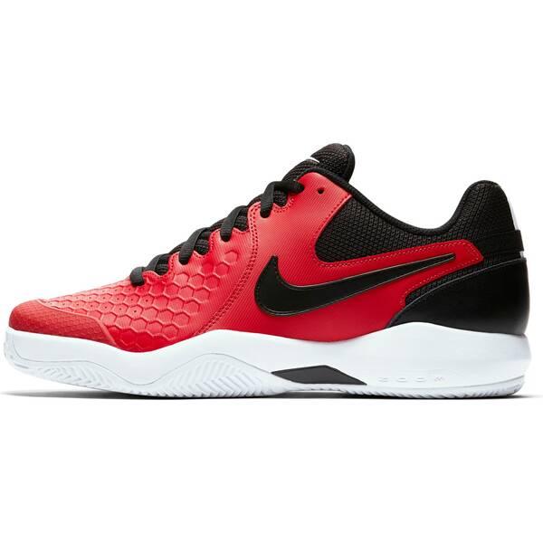NIKE Herren Tennisschuhe Sandplatz Air Zoom Resistance Clay | Schuhe > Sportschuhe > Tennisschuhe | Red - Black - White | Leder | Nike
