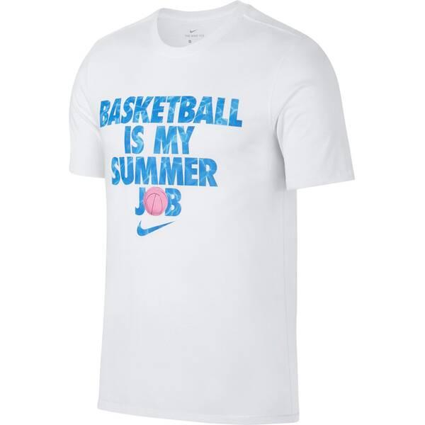 NIKE Herren Fanshirt M NK DRY TEE SUMMER JOB | Sportbekleidung > Sportshirts > Fanshirts | White | Nike