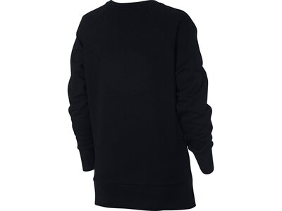 NIKE Damen Sweatshirt W NK DRY TOP CREW SWOOSH Schwarz