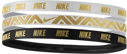 NIKE Damen Haarband Metallic Hairbands 3 Pack