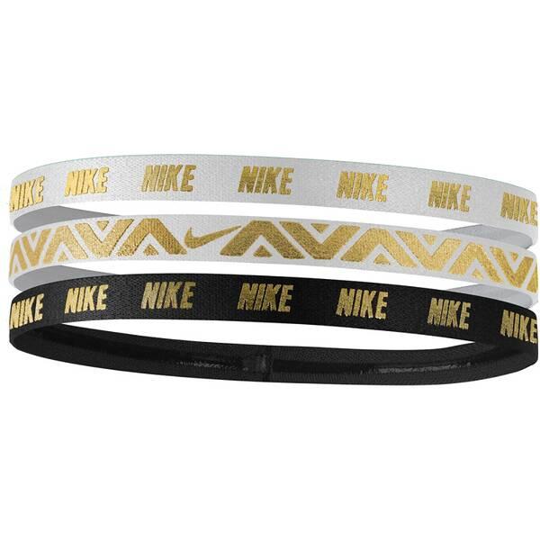 NIKE Damen Haarband Metallic Hairbands 3 Pack