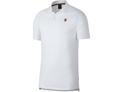 NIKE Herren Tennis Polo M NKCT POLO HERITAGE Grau