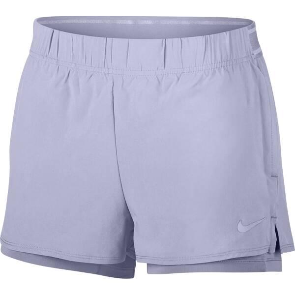 NIKE Damen Tennisshorts Flex | Sportbekleidung > Sporthosen > Tennisshorts | Purple | Nike